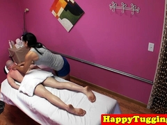 Real Asian Masseuses Seducing Clients Cock