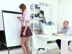 Fervid Schoolgirl Was Tempted And Poked By Aged Tutor79kig