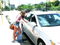 Teen Creampie And Facial Fed Up With Waiting For A Taxi,