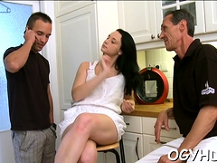 Young Babe Licked And Gives A Oral-service To An Old Dude