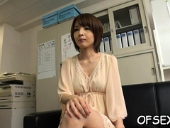 Playgirl Enchants Her Excited Aged Colleague In The Office