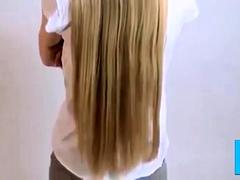 Long Blonde Hair Shaved