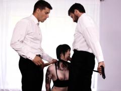 Goth Skank Dped In 3some