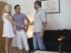 Blonde Gf Cheating With His Brother