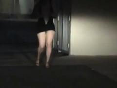 Horny Girl Masturbates In The Street