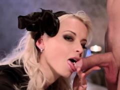 Artistic Goth Blonde Blowjob
