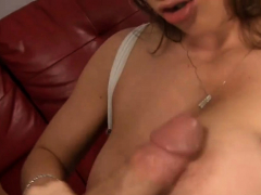 Stupefying Busty Brunette Cutie Craves For Dinky
