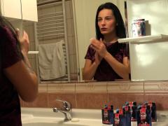 Creeping On My Slutty Sister In The Bathroom