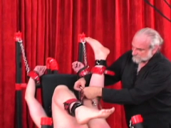 Nude Woman Spanking Episode With Bizarre Bondage