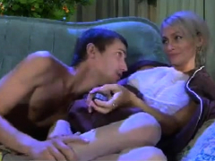 Heavy Chested Blonde Pornstar In Thong Fingering Her Vag