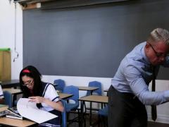 Asian Shoolgirls Play With Professors Cock
