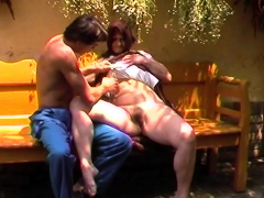 Hairy Mom Outdoor Fucked By A Young Man