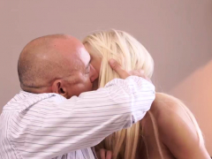 Old Grandma First Time Horny Ash-blonde Wants To Try