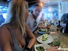 Thick Blonde Loves To Suck Stranger Dicks