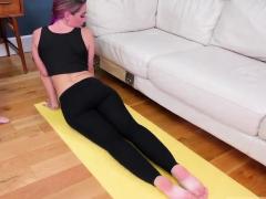 Two Teens Masturbate And Amateur Filmed Ass-slave Yoga