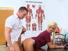 Schoolgirl Spreads Her Legs For Her 1st Older Knob