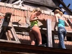 Incredible Blonde Kate & Tanya In The Sun