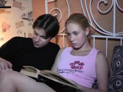 Kinky Russian Gf Cums From Shlong Licking