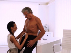 Daddy Meeting His Grey Hair Drives Liliane Horny - Her