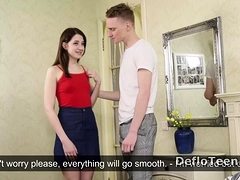 Pretty And Nervous Nataha Normalek Gets Deflowered