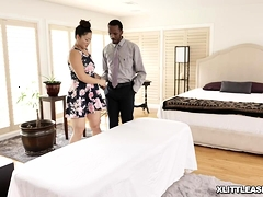 Nyomi Star Reveals Her Pierced Nipples And Oils Herself Up