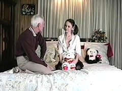 Adorable Young Brunette Teen Gets Fucked By An Old Man