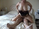 Hot british amateur granny rides cock