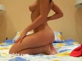 Hot teen masturbates on her bed