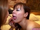 Busty Girl Licked And Fingered By 2 Girls On The Bed In The Hotelroom