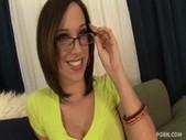 Jada stevens spermed on her sexy glasses