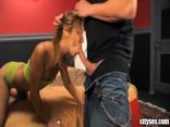 Little Latina Kat Has The Space In Her Holes To Take A Hard DP