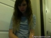 Hot Dubstep Emo Teen On Cam With Pink Pussy