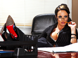 Hot busty school teacher Alektra punishes her student s big dick
