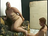 BBW lesbian getting her pussy and ass licked