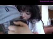 Schoolgirl Fingered Sucking Guy Cock In T ...