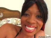 Ebony slut got two horny brothas