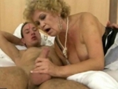 Granny In Maid Outfit Fucking With A Boy
