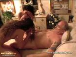 Two Sexy Girls Pleasing This Old Man With Double Blowjob