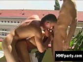 Ass fucked bisexual guy in great MMF thre ...