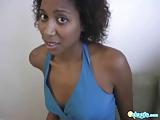 Black Krystal babe sensual blow