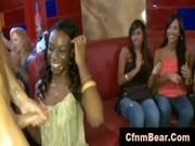 Black CFNM babe sucks off stripper at CFN ...