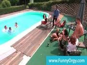 Fancy sluts wet and horny at sex pool orgy