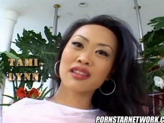 Skinny Asian Tami gets rough anal plowing